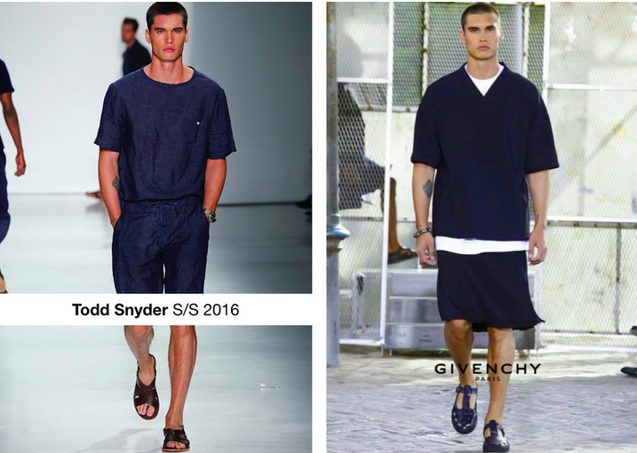 Adryan walking for TODD SNYDER S/S16 at New York Fashion Week. Adryan walking for GIVENCHY S/S16 by Riccardo Tisci at Paris Fashion Week.