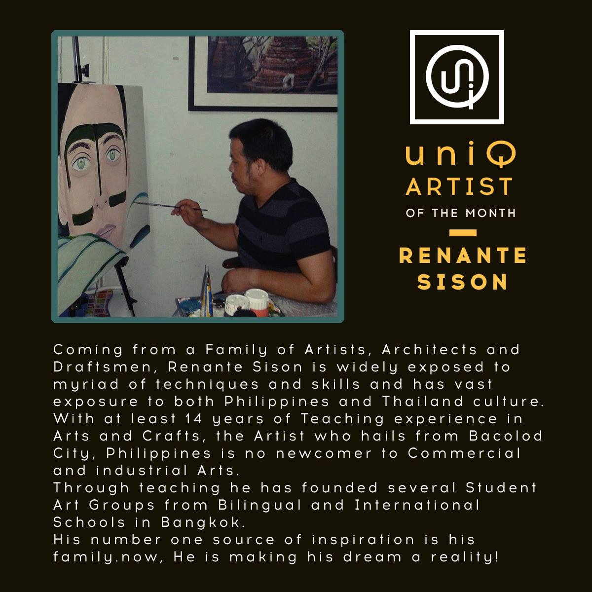 Renante Sison - Artist of the Month