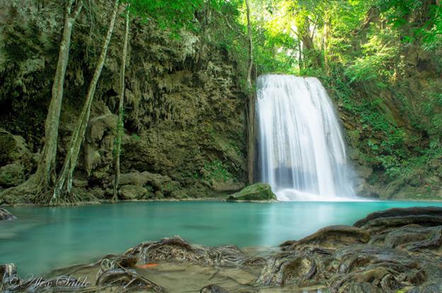 pinoy thaiyo erawan waterfall Pha Num tok alex salde