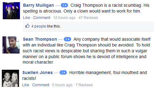 reviews on craigs pages