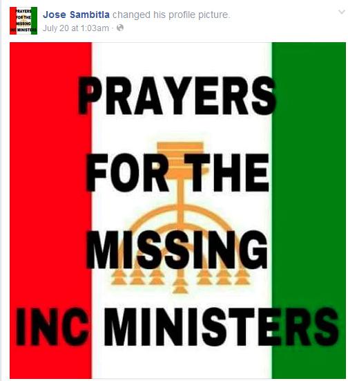 prayers for missing INC members