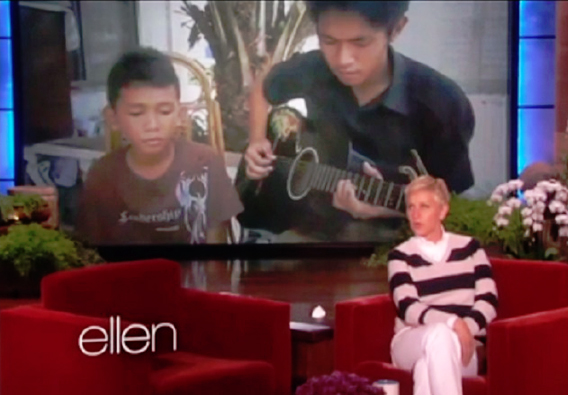 Adrich and James on Ellen Show