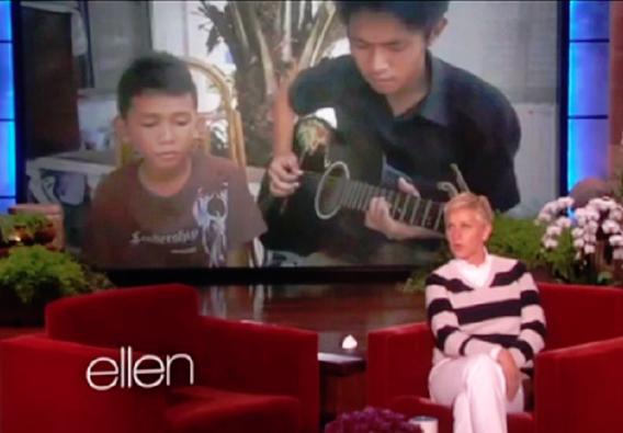 Adrich and James on Ellen Show