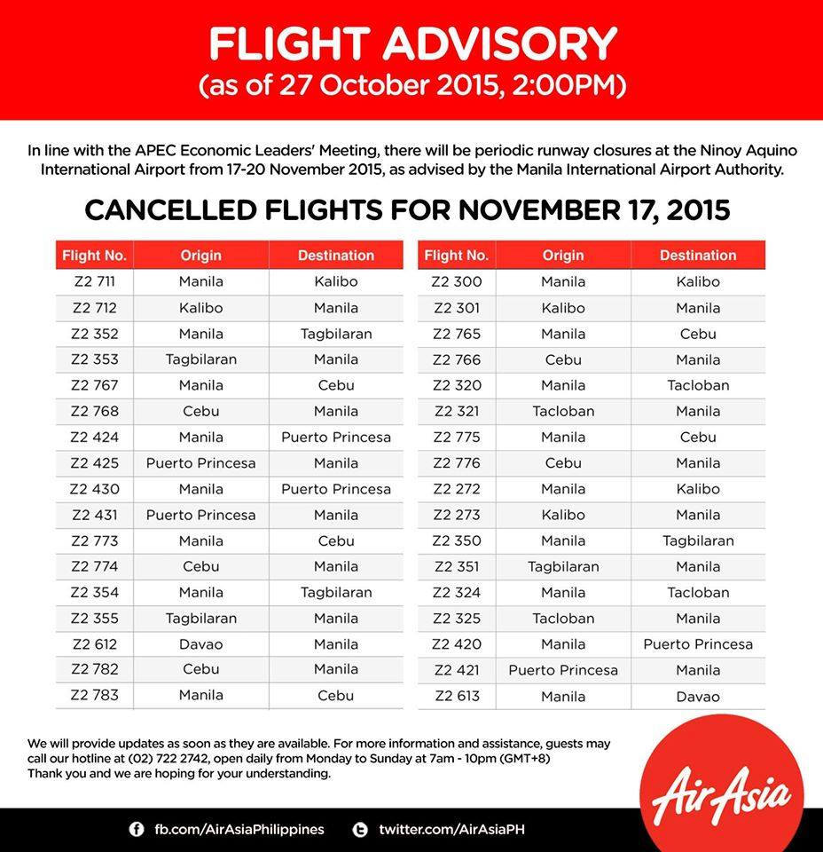 AirAsia cancelled flights APEC2015 17