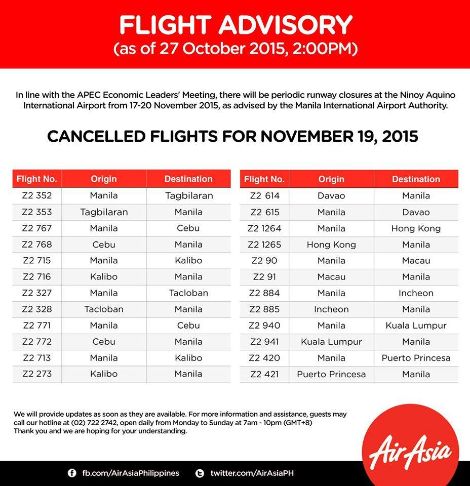 AirAsia cancelled flights APEC2015 19